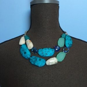 Charming Charlie Faux Turquoise Necklace